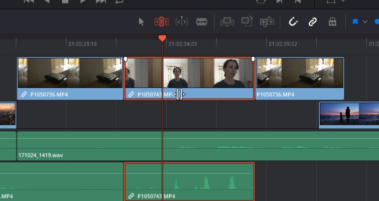 DaVinci Resolve 15 Video Crash Course — The Edit Tools — Slide Edit