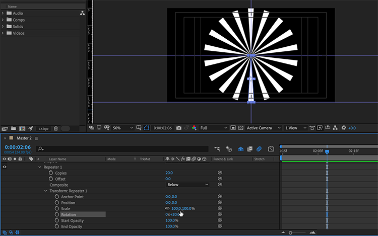 Video Tutorial: How to Create Anime Speed Lines in After Effects — Add Repeater