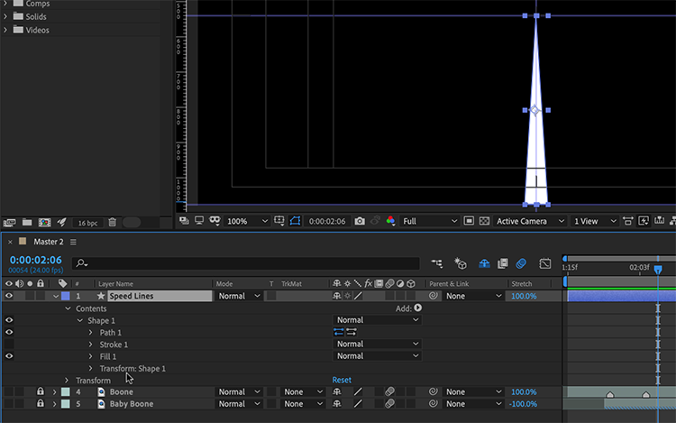 Video Tutorial: How to Create Anime Speed Lines in After Effects — Create Shape