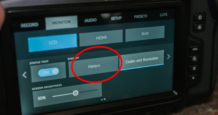 New Filmmaker Tips For Using The Blackmagic Pocket Cinema Camera 4K — Monitor Menu
