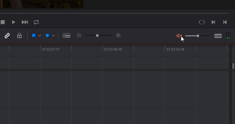 DaVinci Resolve 15 Video Crash Course — Working with Audio on The Edit Page — Mute and Dim