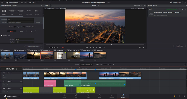 DaVinci Resolve 15 Video Crash Course — Delivering Your Content — Delivery Page