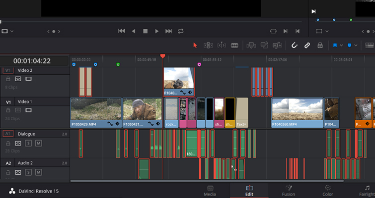 Using the Track Select Forward Tool in DaVinci Resolve 15 — Specific Selections