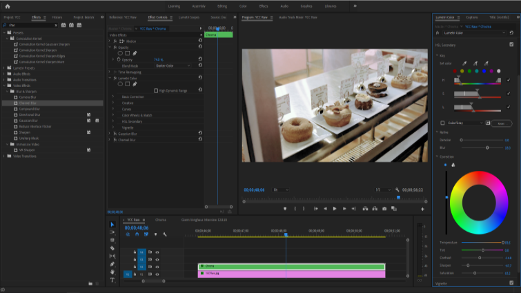 Isolating Image Channels to Work with Chroma and Luma in Premiere — Reduce Visibility