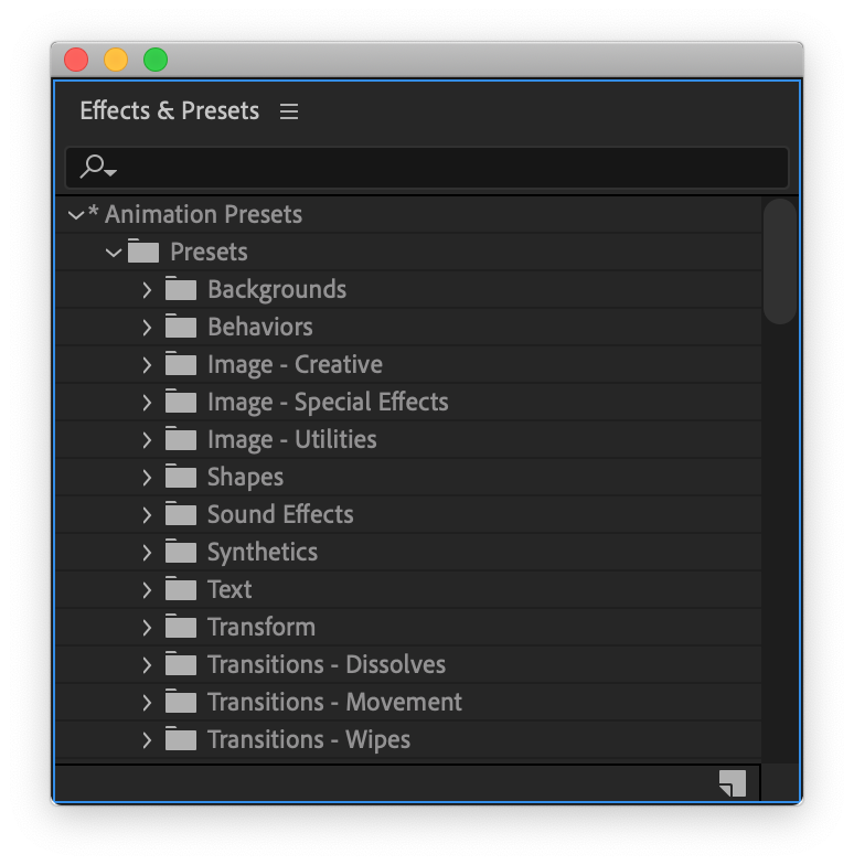 Video Tutorial: Harness the Power of Presets in Adobe After Effects — Apply Existing Presets