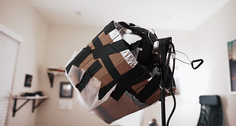 DIY Filmmaking Tips: Building a Heavily Diffused $50 Light — End Result