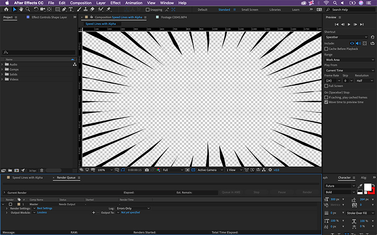 Exporting Video With An Alpha Channel for Transparency in After Effects — Exporting with Transparency