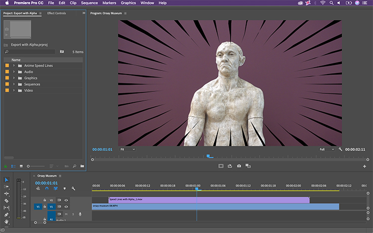 Exporting Video With An Alpha Channel for Transparency in After Effects