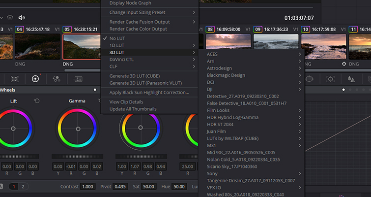 Post-Production Tips: Using a LUT at the Beginning of a Node Tree — Add LUT