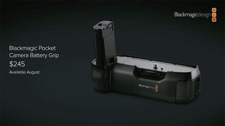 NAB 2019: Blackmagic Design Announces New Battery Grip for the BMPCC4K — Battery Grip