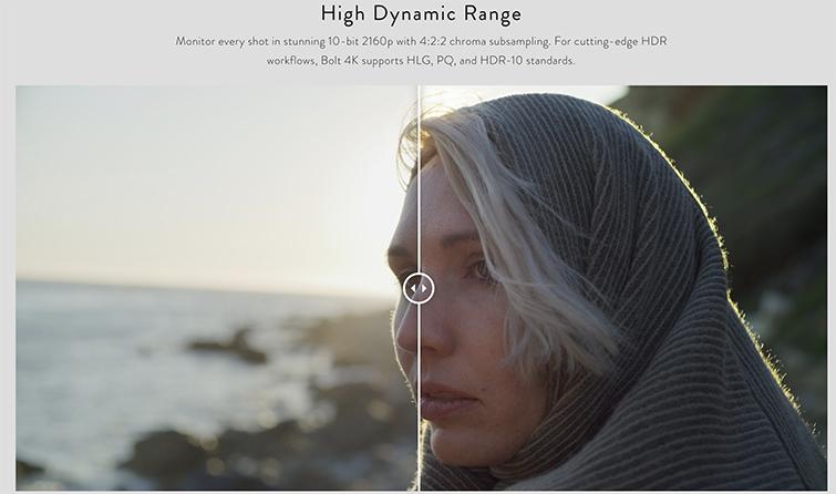 NAB 2019: Teradek's New Bolt 4K Transmitter for Wireless Video — High Dynamic Range