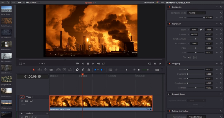 A Rundown Of The Edit Page Changes in DaVinci Resolve 16 — Inspector Panel Changes
