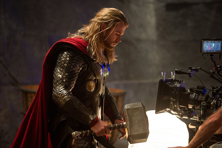 The Cameras and Lenses Behind the Marvel Cinematic Universe (Phase Two) - Chris Hemsworth as Thor
