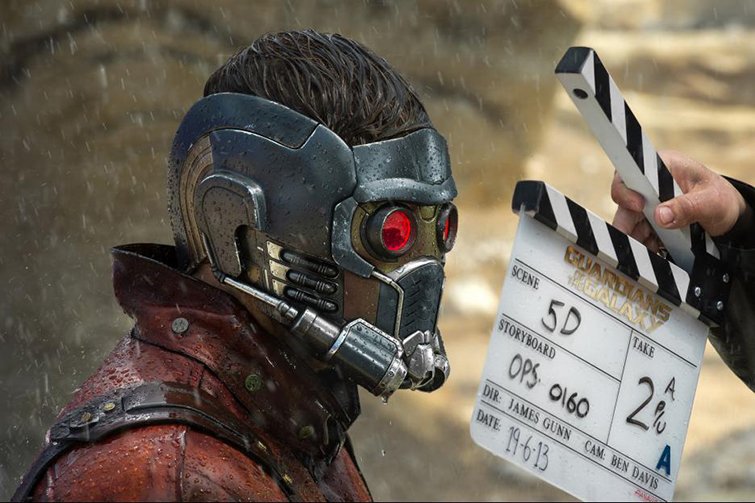 The Cameras and Lenses Behind the Marvel Cinematic Universe (Phase Two) - Chris Pratt as Star-Lord