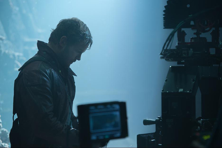 The Cameras and Lenses Behind the Marvel Cinematic Universe (Phase Two) - Camera Perspective on Chris Pratt as Star-Lord