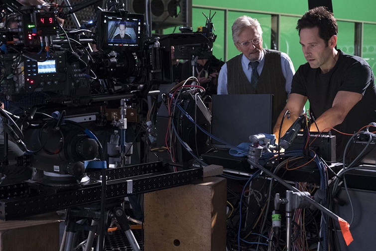 The Cameras and Lenses Behind the Marvel Cinematic Universe — Phase Three - Michael Douglas and Paul Rudd