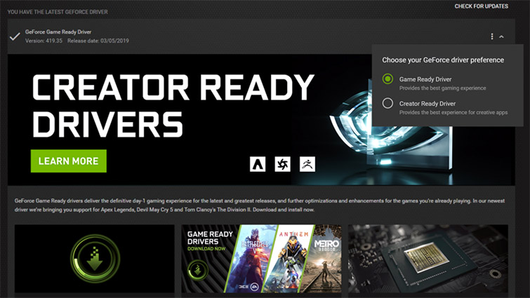 Think Reliable: Inside Nvidia's New Creator-Ready Update — Creator Ready Drivers