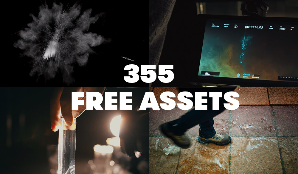 355 Free Motion Graphics, Sound Effects, Action Elements, and More