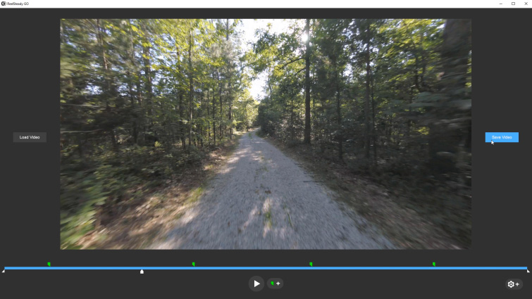Stabilizing GoPro Footage with the Unique ReelSteady GO App - ReelSteady GO Software UI