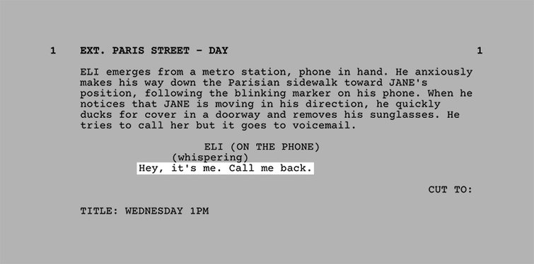 The Language of Making a Short - Formatting the Screenplay - Dialogue
