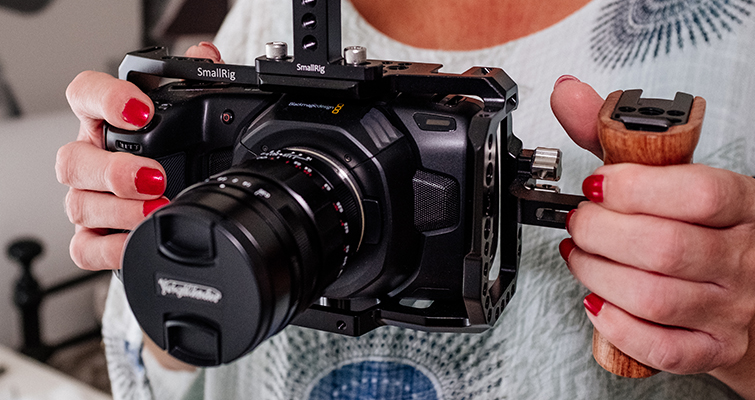 Building a Low Budget Handheld Rig for the Blackmagic Pocket Cinema Camera 4K - Side Handle