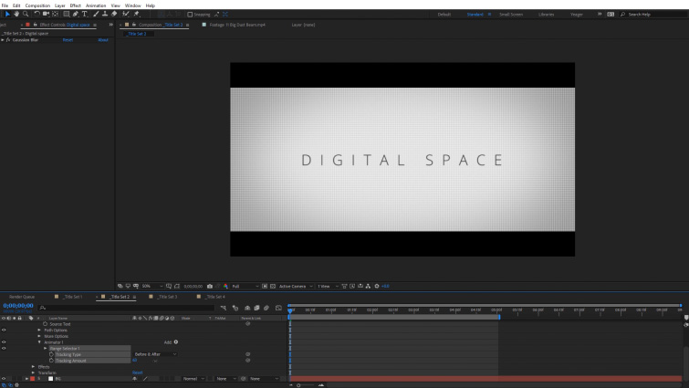 Easy Compositing Tips in After Effects for Professional-Looking Titles — Text Tracking