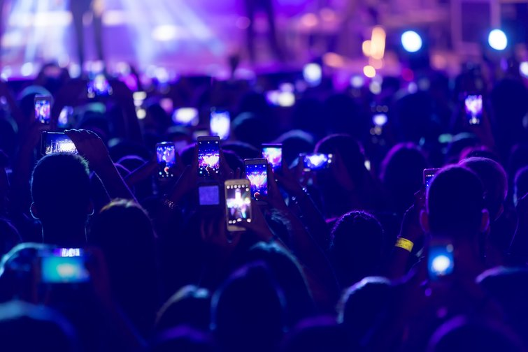 Five Creative Options to Shoot Concert Footage for Bands - Crowd with Cells