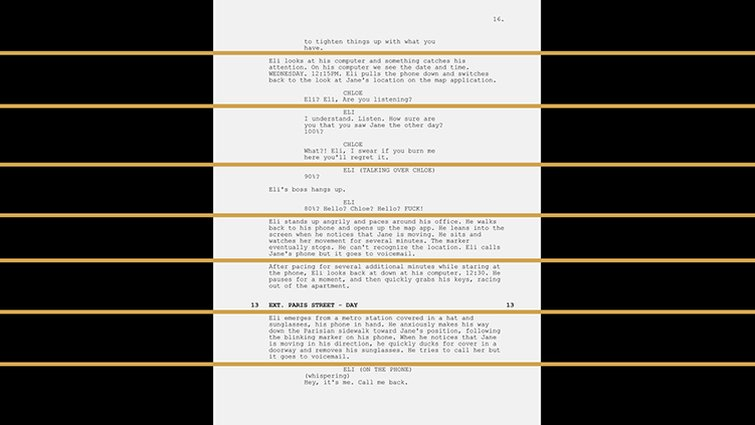 Pre-production Tips: How and Why to Breakdown a Script - Lining the Script by Eighths