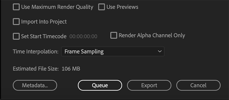 Pro Tip: Exporting a Finished Video from Premiere Pro — Queue and Export