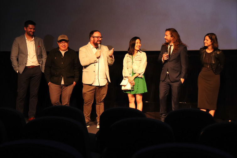 Interview: Director Ernie Gilbert on His Sci-Fi Short Film Nine Minutes - Director Ernie Gilbert Speaking at Nine Minutes Premiere