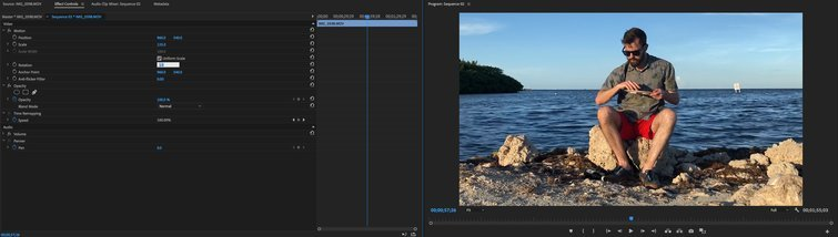 Quick Tip: Fixing a Crooked Horizon in Premiere Pro — Adjust the Rotation