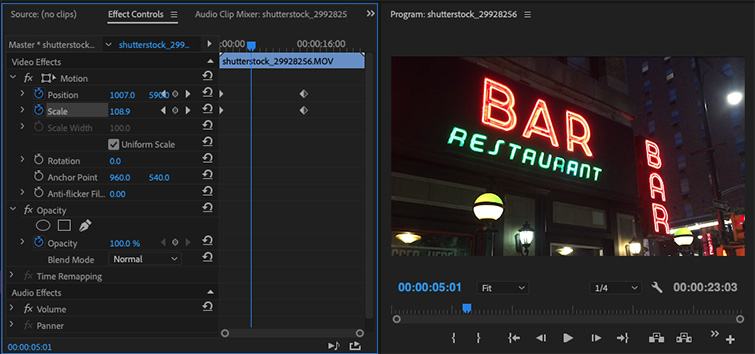 Using Zoom in Premiere Pro for Simple Transitions — Polish the Zoom