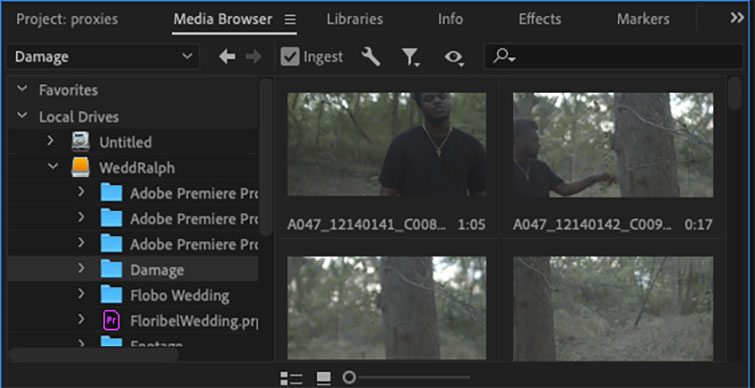 Premiere Pro Quick Tip: How to Create Proxies - Media Browser