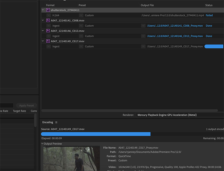 Premiere Pro Quick Tip: How to Create Proxies - Media Encoder