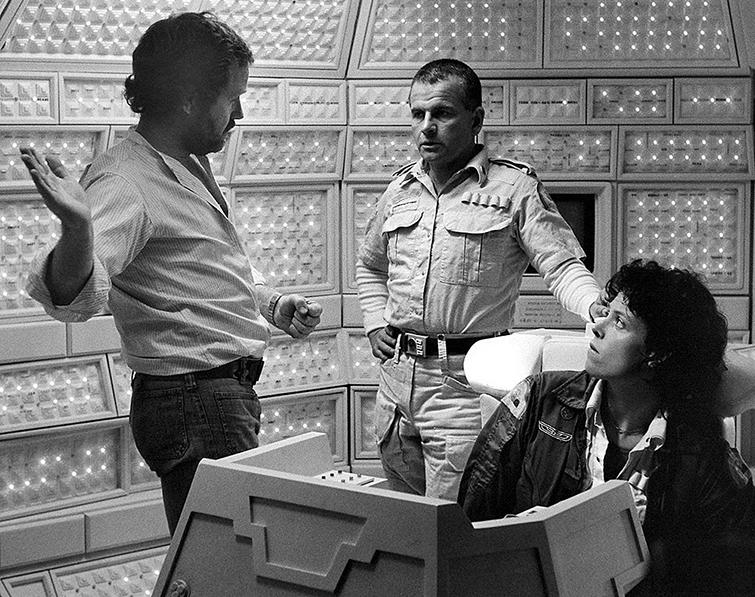 "On the set of ""Alien."""