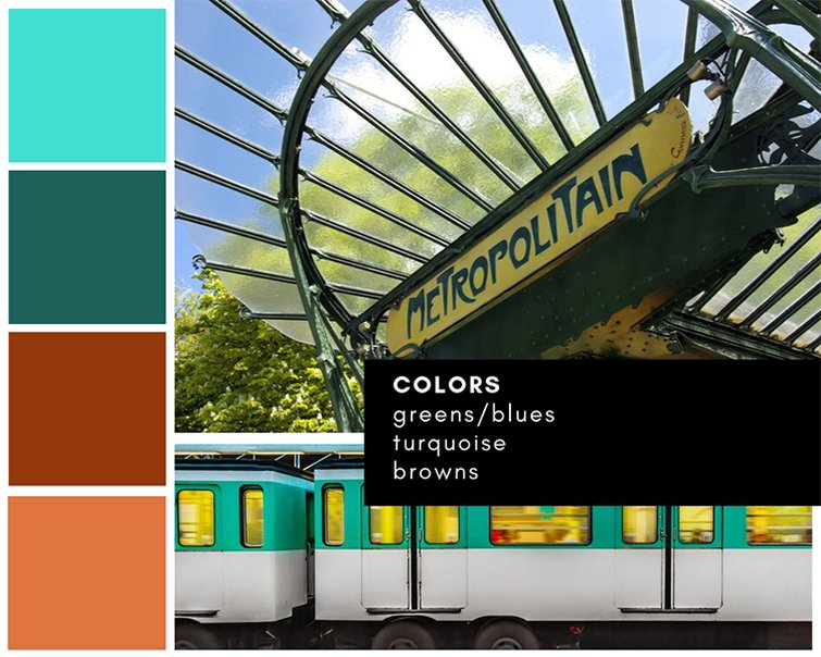 Mood board — color palette