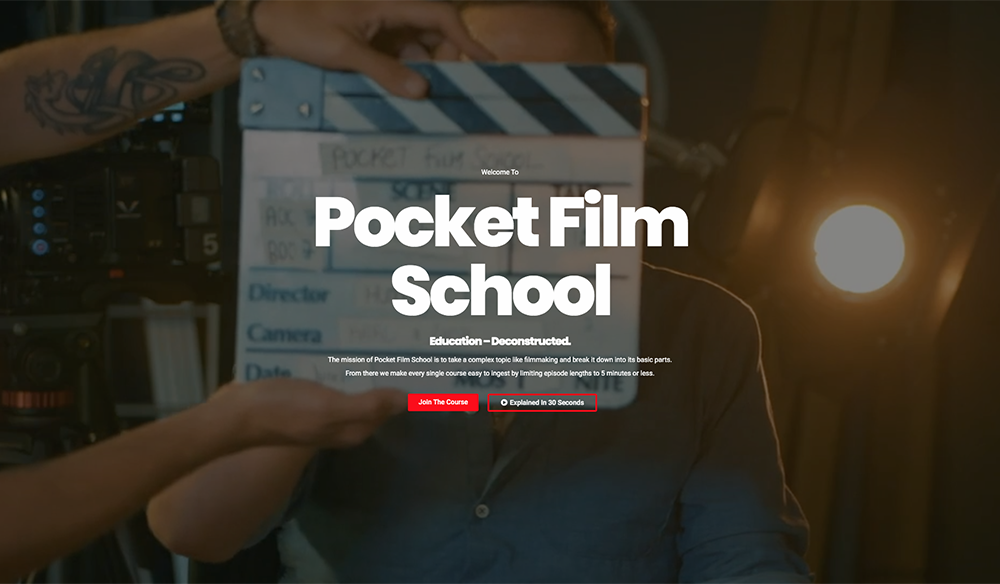 "This ""Pocket Film School"" Teaches Everything You'd Learn in Film School"