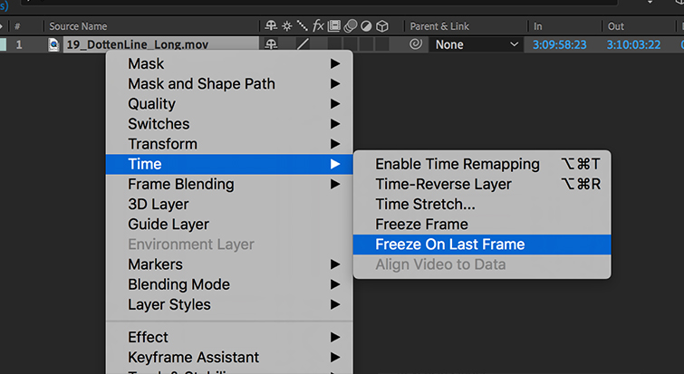 Lengthening animation in After Effects