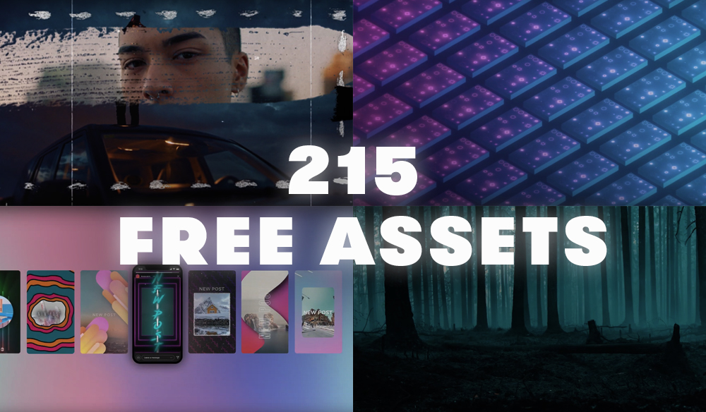 215 Free Motion Graphics, Sound Textures, Social Designs, and More