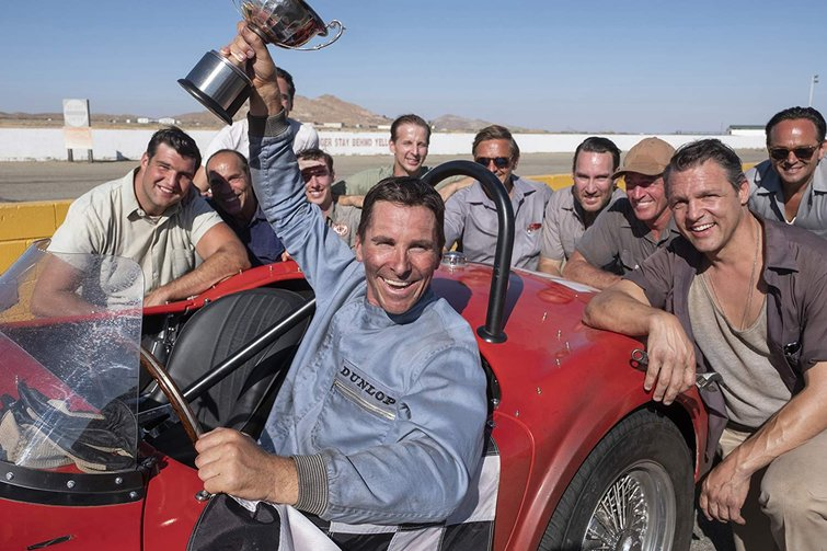 Christian Bale and Cast in Ford v Ferrari