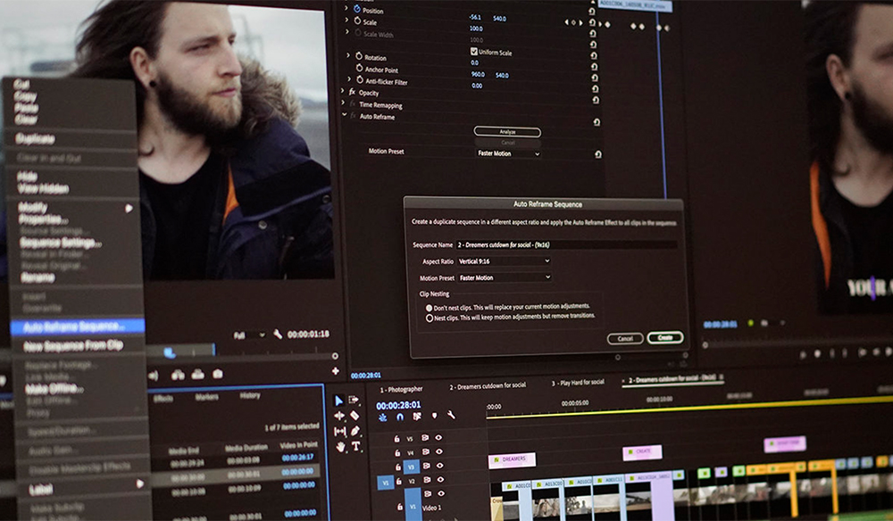 Adobe Unveils Auto Reframe and Other Video Editing Updates