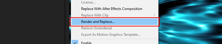 Render and Replace