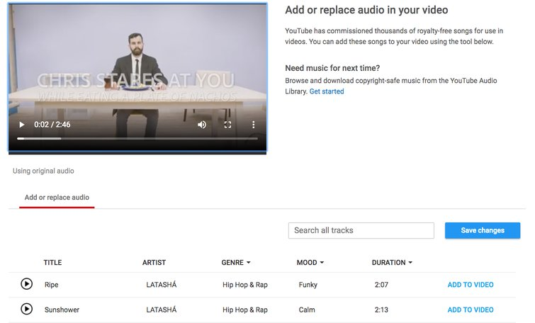 Reviewing YouTube's New Non-Linear Video Editor — Add Audio