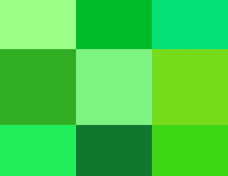 Green Screen Colors