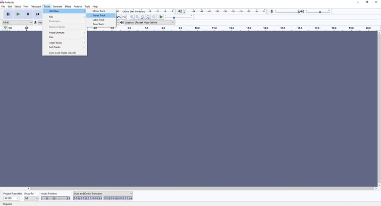 Getting Started in Audacity
