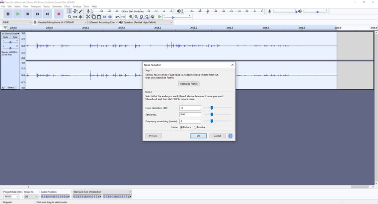 Getting rid of noise and silence in Audacity