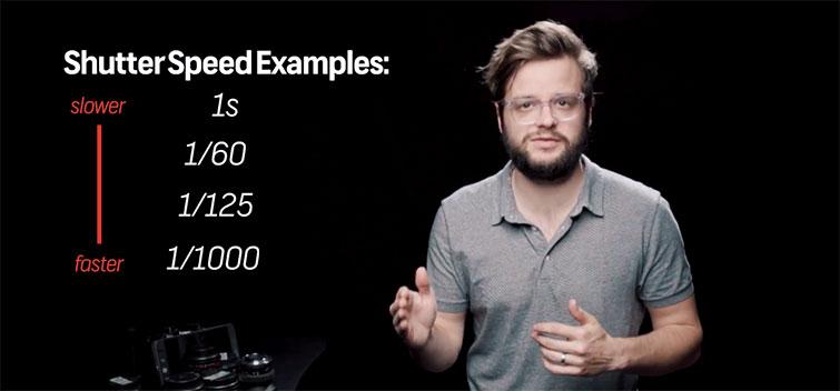 Shutter speed examples