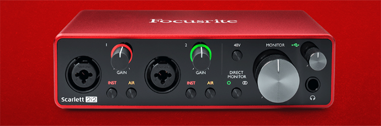 The Best Microphone Setups for Every Type of Podcaster — Focusrite Scarlett 2i2
