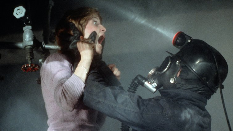 """Helene Udy and Peter Cowper in """"My Bloody Valentine"""""""