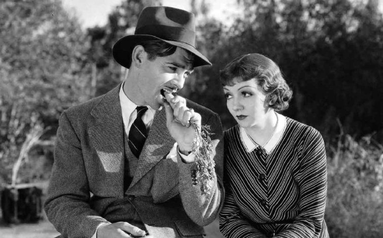 """Clark Gable and Claudette Colbert in """"It Happened One Night"""""""